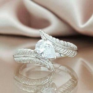 Elegant Romantic Pear Cut White Sapphire Ring
